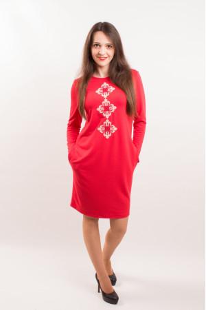 Платье «Звездное» красного цвета