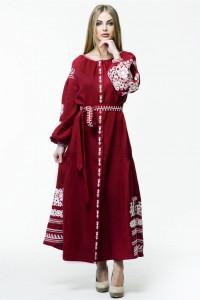 Сукня «Лелія» темно-червоного кольору