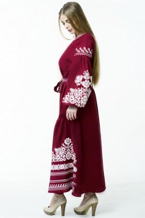 Платье «Лелия» темно-красного цвета