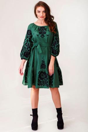 Платье «Ганя» зеленого цвета