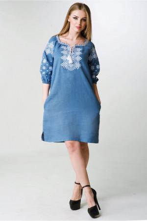 Платье «Болеслава» голубого цвета