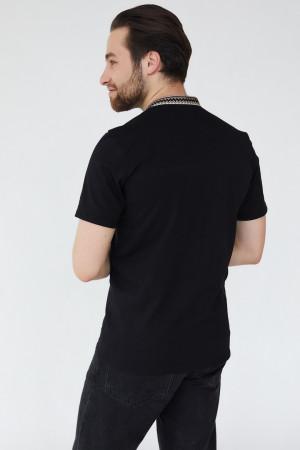 Чоловіча футболка «Гаврило» чорного кольору