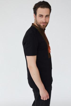Чоловіча футболка «Зиновій» чорного кольору