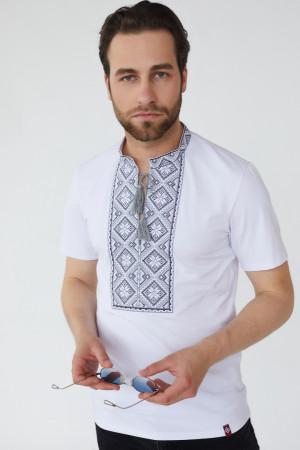 Чоловіча футболка «Зиновій» білого кольору