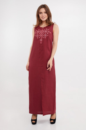 Сарафан «Велимира» бордового цвета