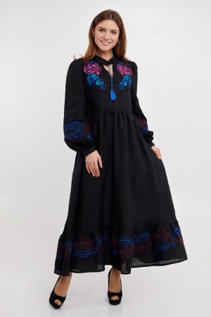 Платье «Пиона» черного цвета