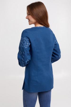 Вишиванка «Ясміна» синього кольору
