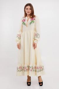 Платье «Пиона» молочного цвета