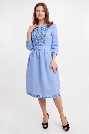 Платье «Сола» голубого цвета
