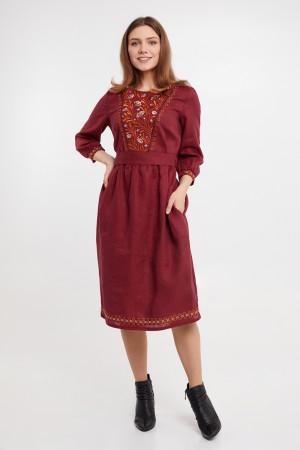 Платье «Сола» бордового цвета