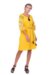 Платье «Иванна» желтого цвета