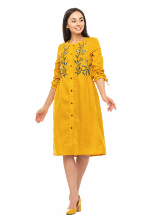 Платье «Анита» горчичного цвета