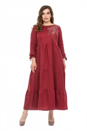 Сукня «Олівія» кольору бордо