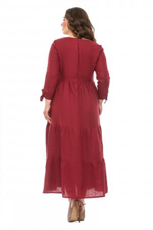 Платье «Оливия» цвета бордо
