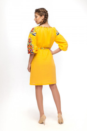 Платье «Сона» желтого цвета