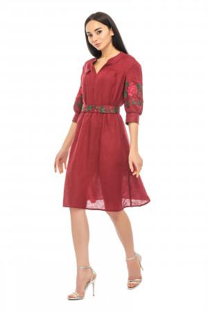 Сукня «Марі» бордового кольору