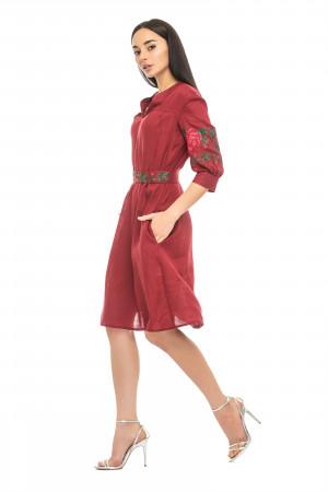 Платье «Мари» бордового цвета