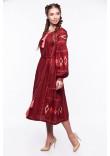 Сукня «Василиса» бордового кольору