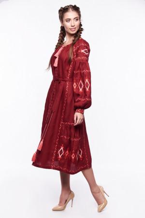 Платье «Василиса» бордового цвета