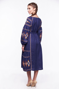 Платье «Василиса» синего цвета