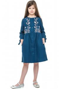 Сукня для дівчинки «Аніта» синього кольору