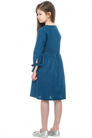 Платье для девочки «Анита» синего цвета