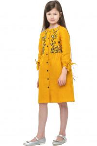 Сукня для дівчинки «Аніта» гірчичного кольору
