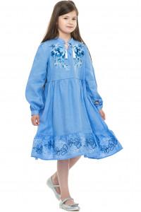 Сукня для дівчинки «Піона» блакитного кольору