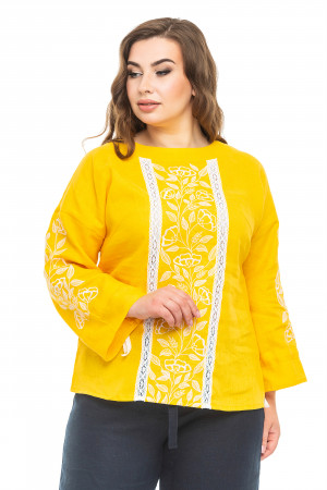 Вишиванка «Елен» жовтого кольору