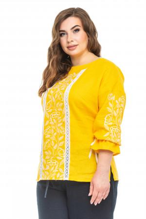 Вышиванка «Элен» желтого цвета