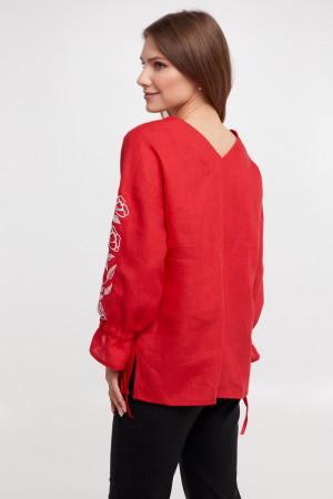 Вишиванка «Елен» червоного кольору