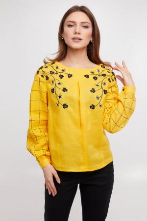 Вышиванка «Златослава» желтого цвета