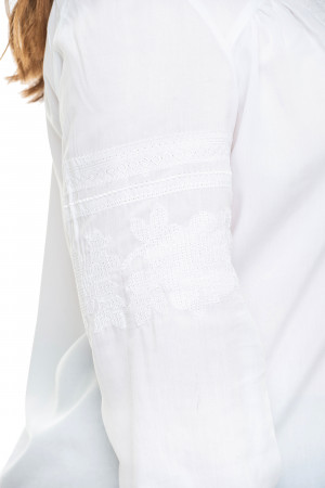 Вышиванка «Марта-штапель» белого цвета