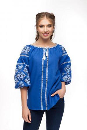 Вышиванка «Светодара» синего цвета