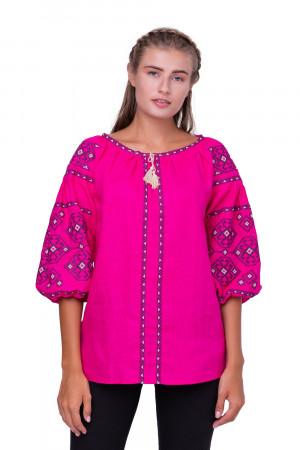 Вышиванка «Светодара» розового цвета
