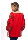 Вишиванка «Чарівниця» червоного кольору
