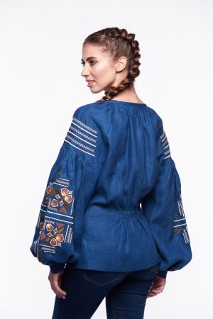Вышиванка «Яра» синего цвета