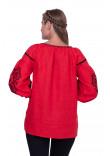 Вишиванка «Леда» червоного кольору