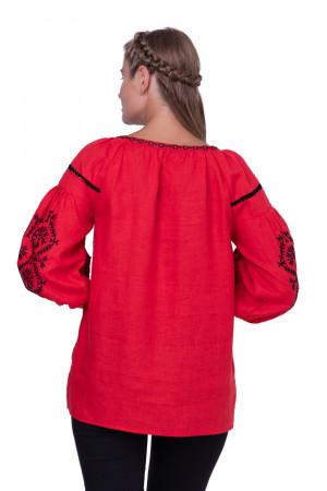 Вышиванка «Леда» красного цвета