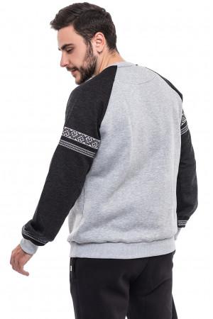 Мужской свитшот «Вышезор» серого цвета
