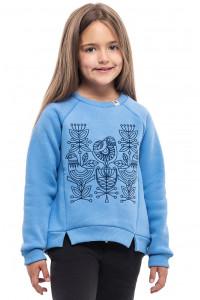 Світшот для дівчинки «Пташка» блакитного кольору