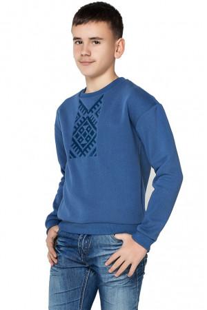Світшот для хлопчика «Етно» блакитного кольору