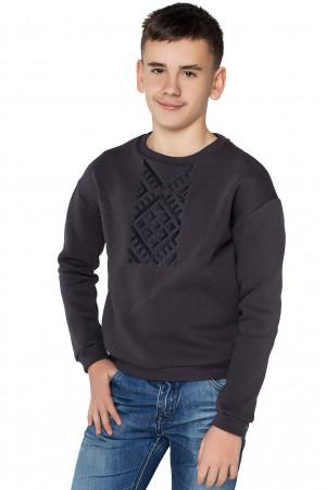 Світшот для хлопчика «Етно» графітового кольору