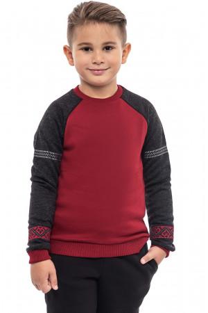 Світшот для хлопчика «Вишезор» бордового кольору