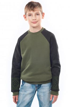 Світшот для хлопчика «Вишезор» кольору хакі