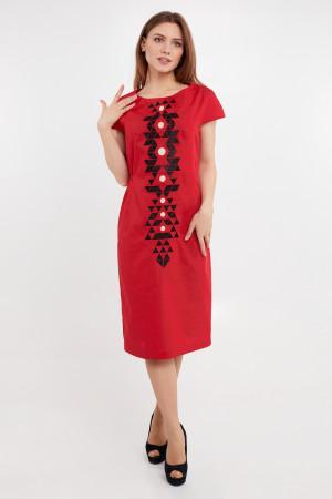 Платье «Есения» красного цвета