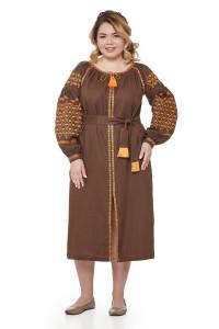 Платье «Мавка» коричневого цвета