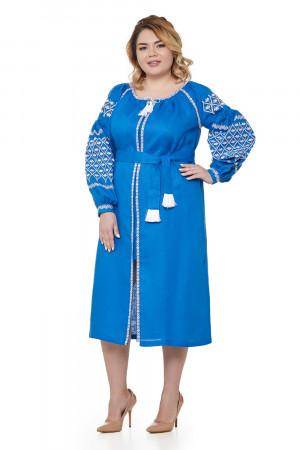 Платье «Мавка» синего цвета