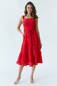 Сарафан «Лето» красного цвета