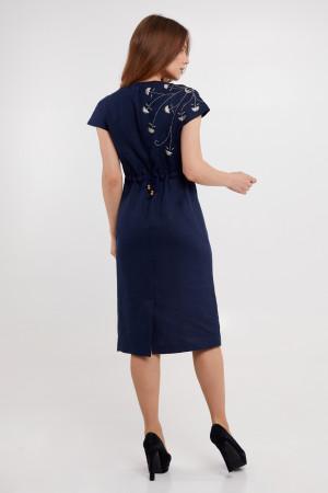 Платье «Велина» темно-синего цвета